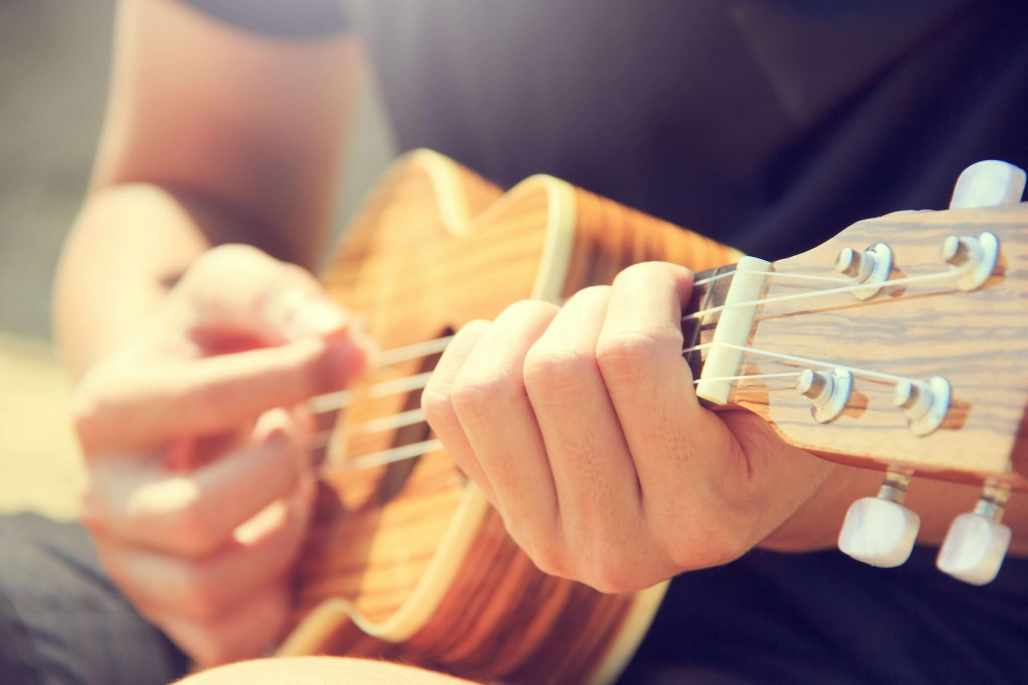 ergens heel goed in worden gitaar spelen