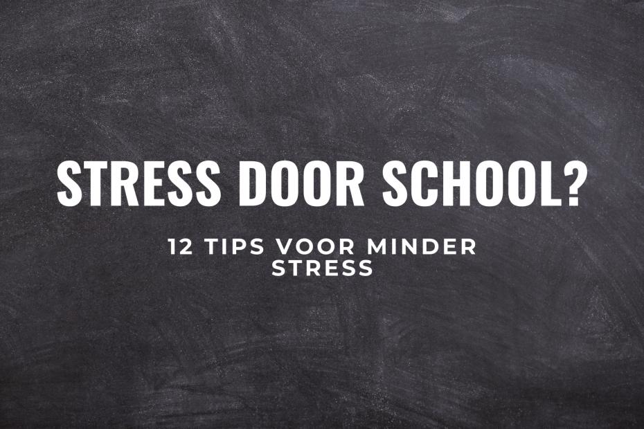 school stress tips titel