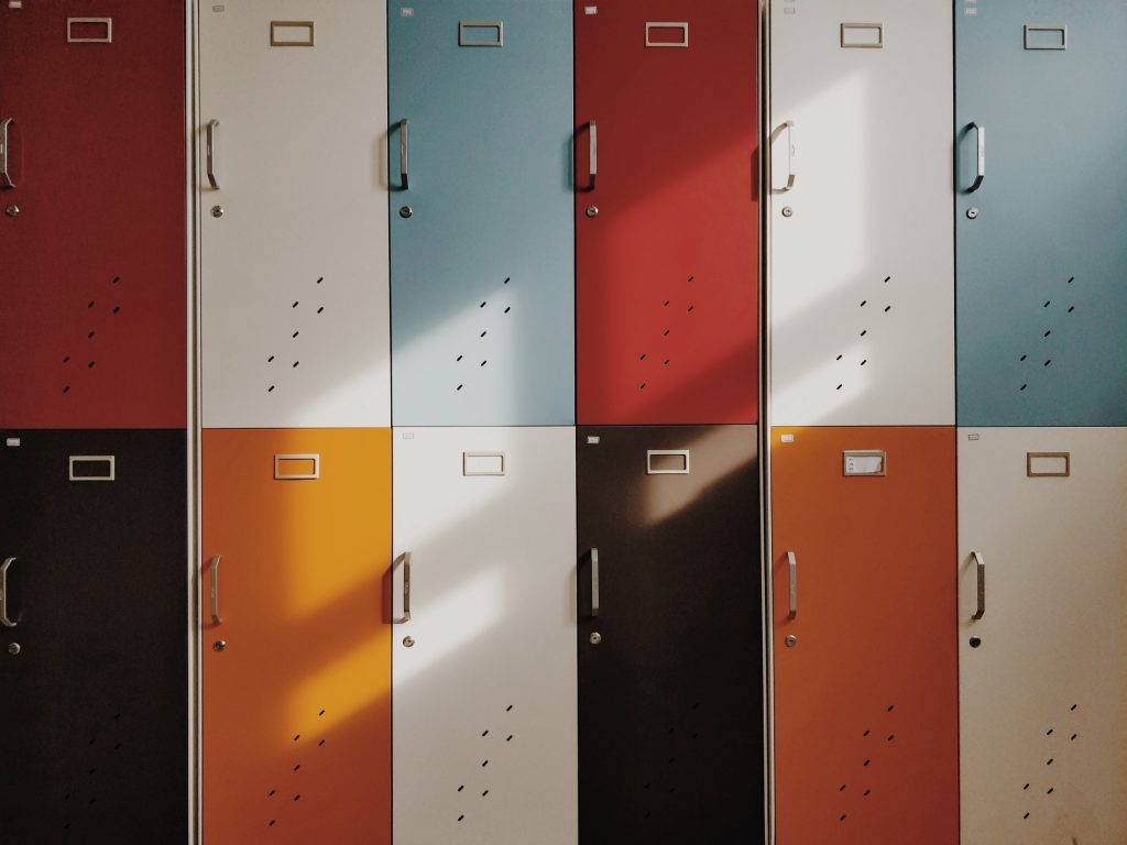 Middelbare school brugklas tips kluisjes