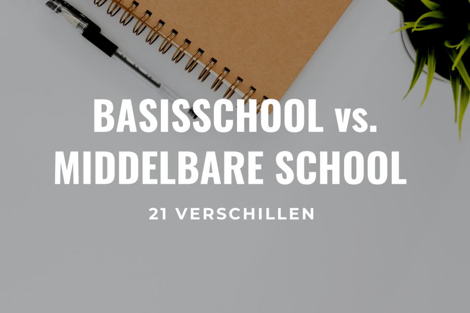 Verschillen basisschool en middelbare school titel