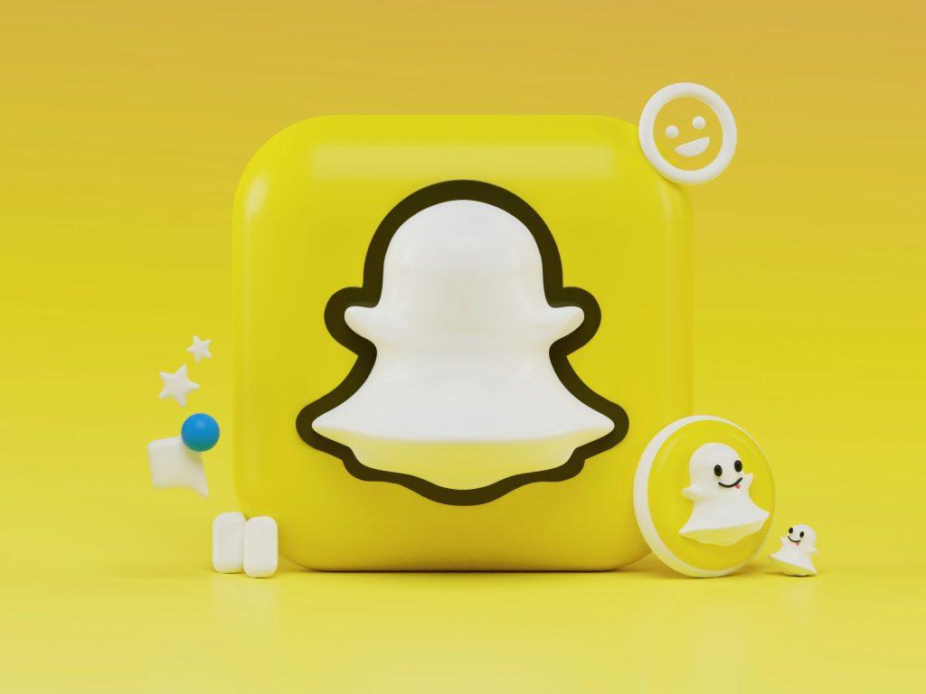Snapchat logo 3D