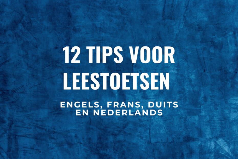 Leestoets tips engels frans duits nederlands
